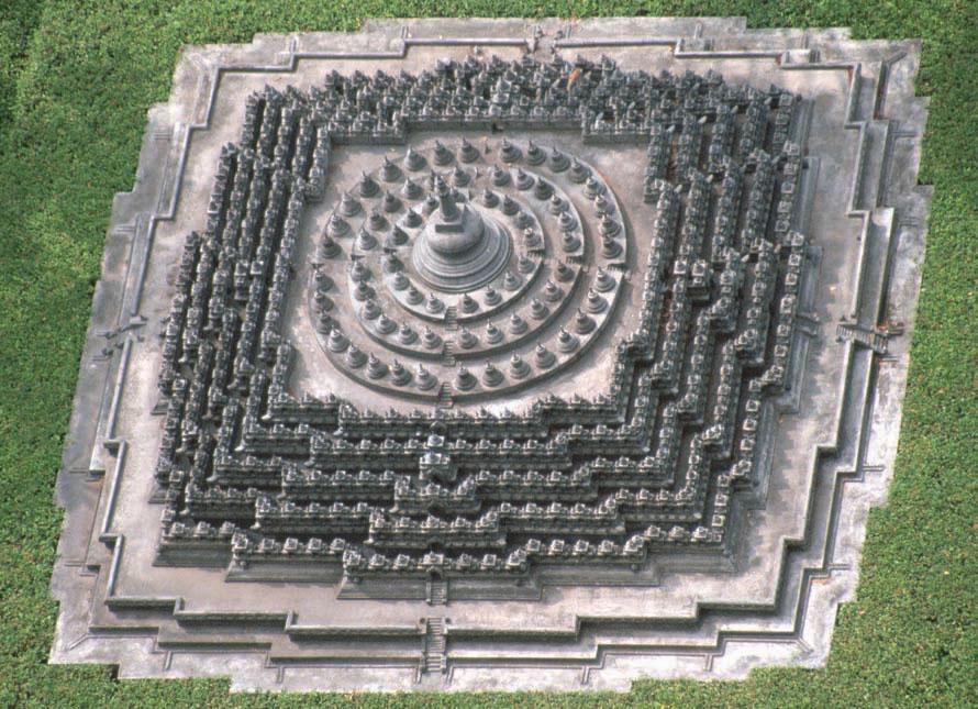 borobudur temple  aerial view
