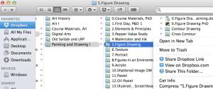 Dropbox, Folders and Share Link