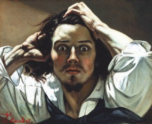 """The Desperate Man,""  by Gustave Courbet"