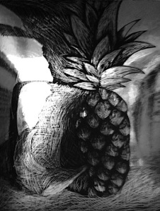 Example for Final Pineapple Scratchboard