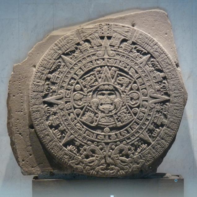 Aztec, Stone and 5 Suns Calendar
