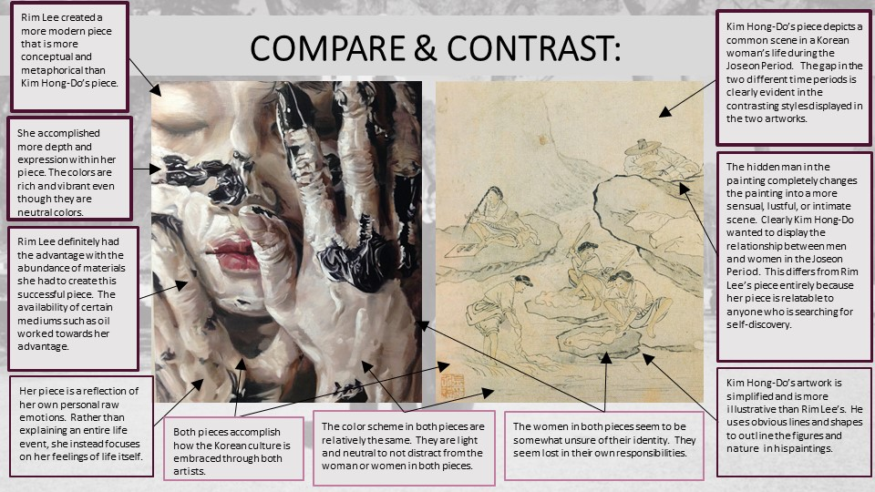 compare and contrast two paintings from different art periods