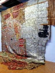 el anatsui, bottle cap blanket 1