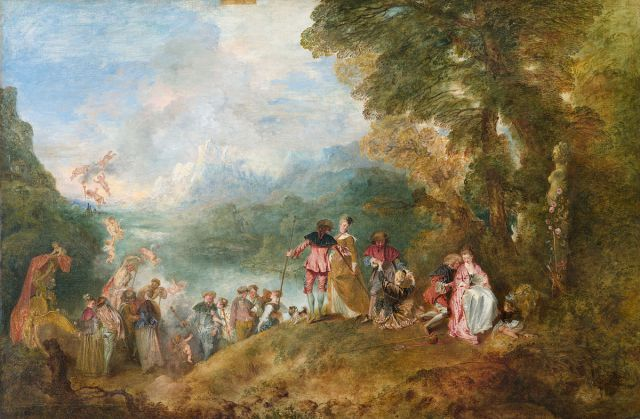 Watteau, Embarkation for Cythera, 1717