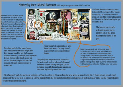 'Notary' by Basquiat Annotation